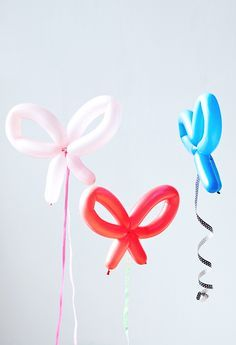 Make pretty bow balloons #party #diy #birthday