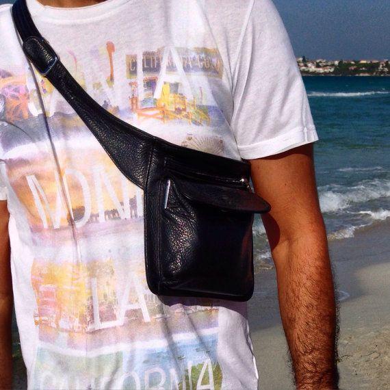 #Leather #HipBag #ShoulderBag #BeltBag #etsy #handmade #streetwear #fashion by MKLeatherGoods