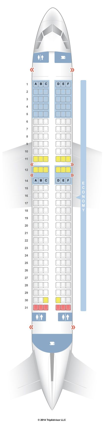 SeatGuru Seat Map AirAsia Airbus A320 (320) - SeatGuru
