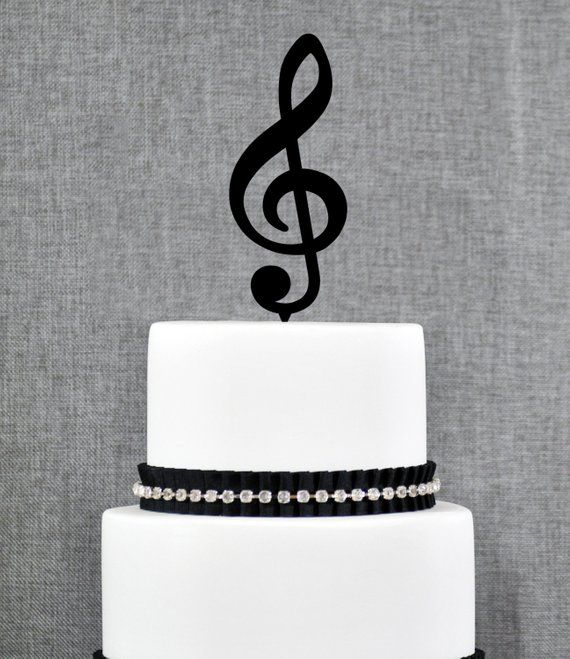 Personalised Acrylic Electric Guitar Rock Band Birthday Cake Topper Decoration