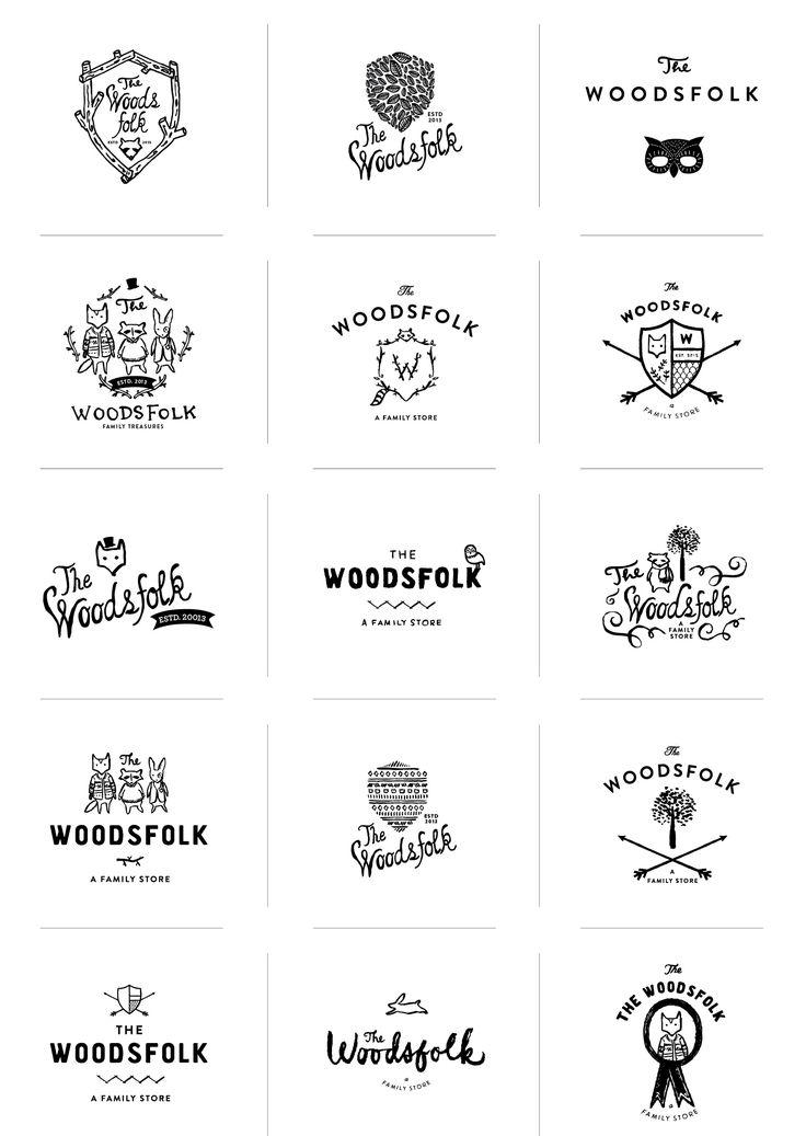 Woodsfolk Logo Process by Stitch Design Co.