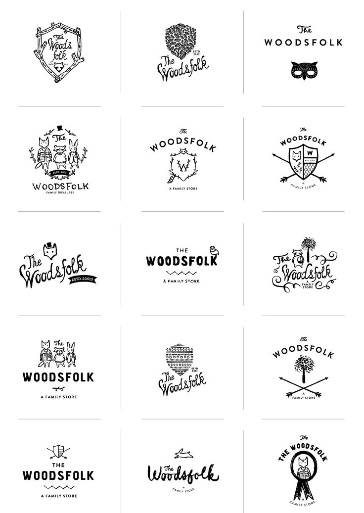 Woodsfolk Logo Process