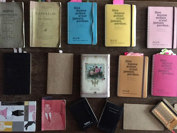 My notebooks on my coffee table captured in April 2015, before we said good bye.