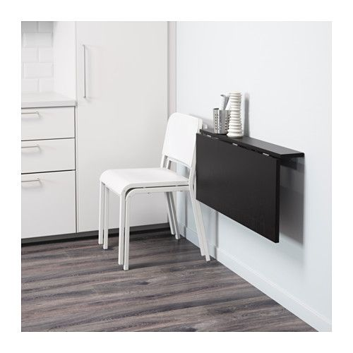 BJURSTA Wall-mounted drop-leaf table - IKEA. Desk idea--Can hang it at just the right height for short people