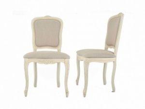 Ζεύγος Καρέκλες Τραπεζαρίας με Ύφασμα Provencale