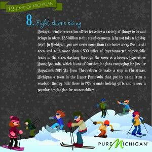 12 Days of Michigan: Day 8: Events, Christmas, Holidays, Michigan Rules, Infographic, Blog, Pure Michigan
