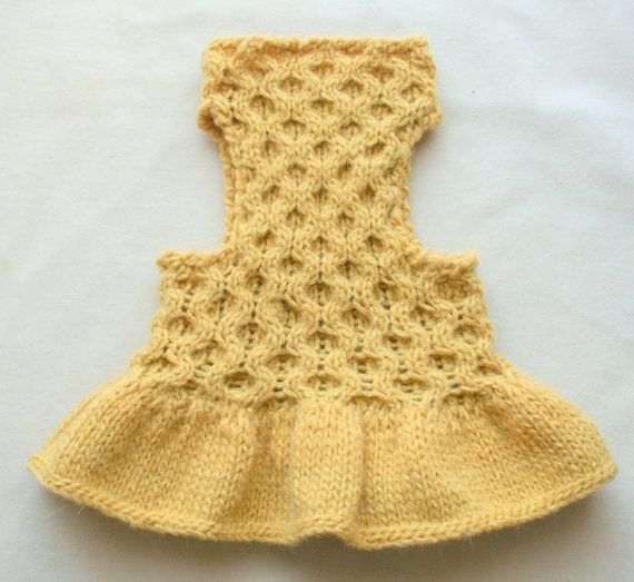 Perro amarillo Dress Vestido Caniche Chaleco de Chihuahua