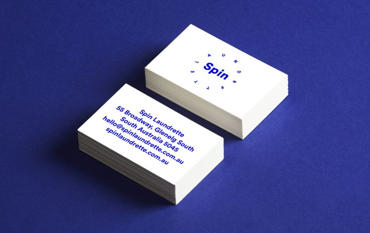 Spin Laundrette — Business Cards