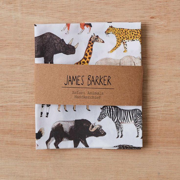Animal Handkerchief Pocket Square, wedding handkerchief, gift for him, mens pocket square, animal print, mens handkerchief, safari by JamesBarkerDraws on Etsy