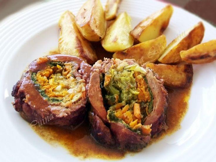 Ruladă de carne și legume