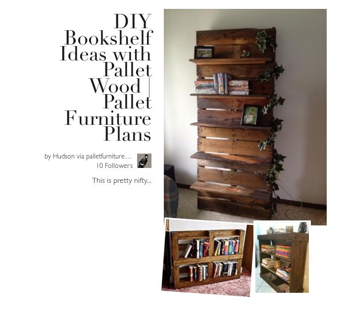 DIY Bookshelf Ideas With Pallet Wood Furniture