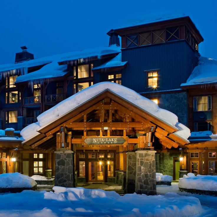 Nita Lake Lodge—Whistler, Canada. #Jetsetter