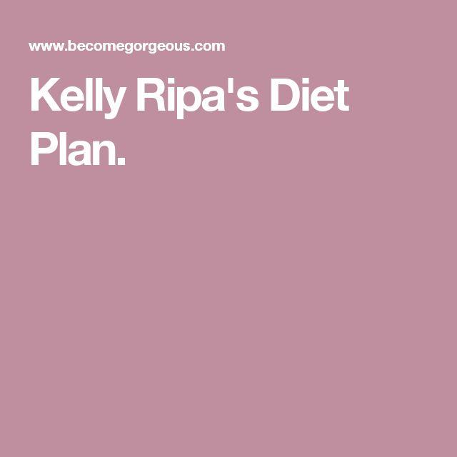 Kelly Ripa's Diet Plan.