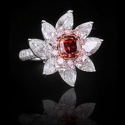 View Fancy Red Diamond Ring