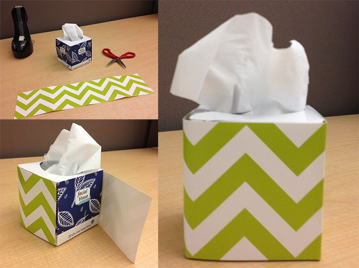 Don't forget to decorate your ordinary tissue box! Britt. O. used CTP's newest Chevron Lime Green Border. Check out for more Chevron Classroom Ideas
