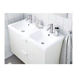 IKEA - ODENSVIK, Podwójna umywalka,  , 100x49x6 cm, , Bezpłatna gwarancja 10 lat. Warunki gwarancji znajdziesz w broszurze.Umywalka ma dwie komory, dzięki czemu idealnie nadaje się dla dwóch osób.Dołączony w komplecie syfon łatwo podłączyć do odpływu, pralki czy suszarki, bo jest elastyczny.Unikalnie zaprojektowany syfon pozwala zmieścić pełnowymiarową szufladę.