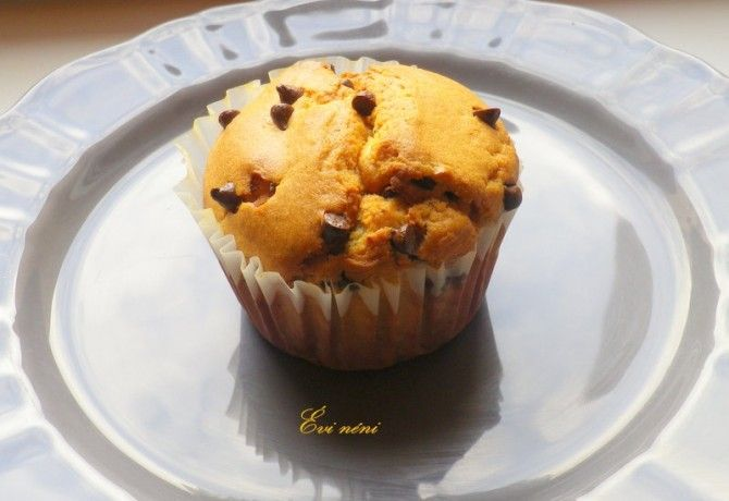 Csokis-banános muffin Évi nénitől