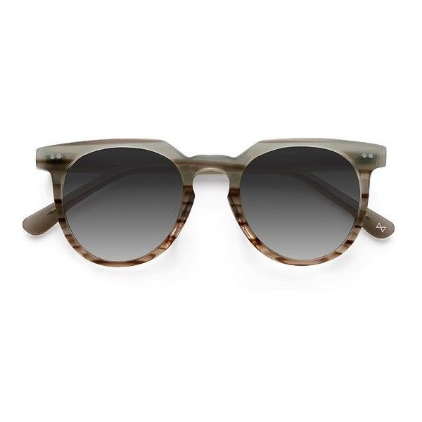 Women's Shadow - Striped Mint round - 16519 Rx Sunglasses ($65) ❤ liked on Polyvore featuring accessories, eyewear, sunglasses, rounded glasses, stripe sunglasses, round glasses, striped sunglasses and round sunglasses