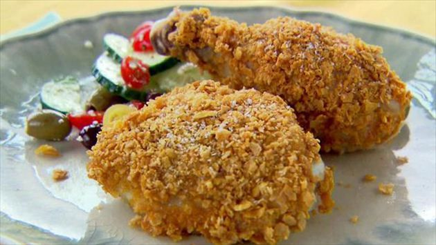 Chicken Baked in Cornflake Crumbs Recipe : Trisha Yearwood : Food Network
