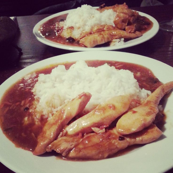 #chicken #rice #sweet #and #sour #sauce #chinesee