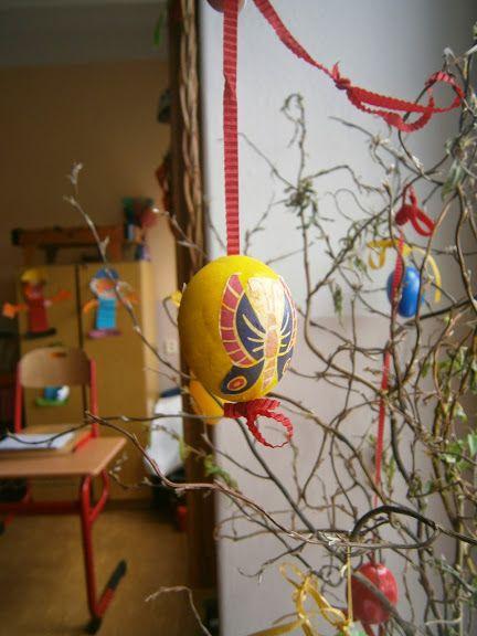 Velikonoční vajíčko - ubrousková metoda