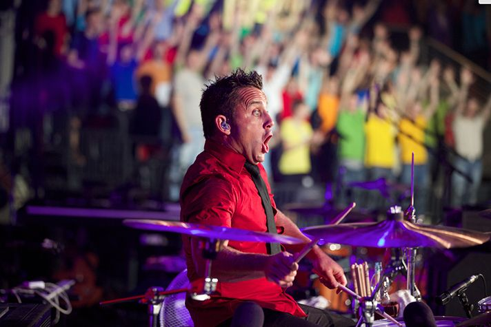 Duncan Phillips, playing here at the BGEA Baltic Youth Festival in Riga, Latvia, and the Newsboys are part of the 'God's Not Dead' movie, released today nationwide.