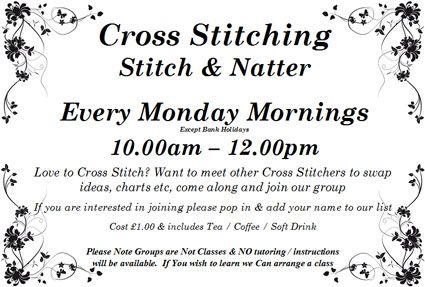 Cross Stitching Stitch & Natter Group