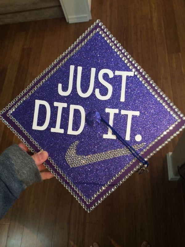 decorated graduation cap for high school graduation by tina - Graduation Cap Decoration Ideas