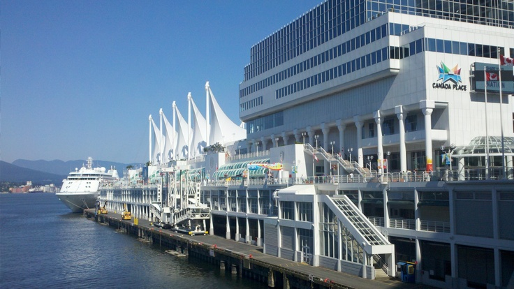Cruise ship dock at Canada Place