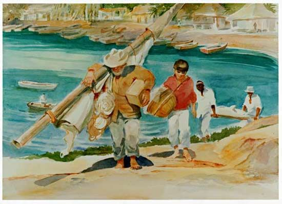 images about old man and the sea on pinterest   the old    men at back show how the fish in first scene can be carried