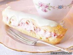 Рецепт Эклеры с малиновым кремом и белым шоколадом