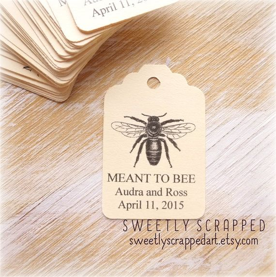 50 Meant To Bee Tags ... Honey Jar Labels by SweetlyScrappedArt