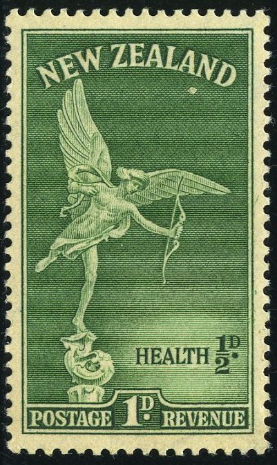 King George VI New Zealand 1947 Health Stamps