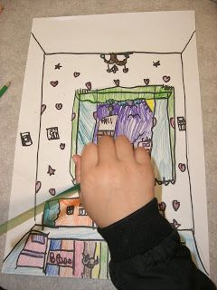 Art on your Sleeve: a PYP art blog: How the World Works:  3rd grade interior space dra...