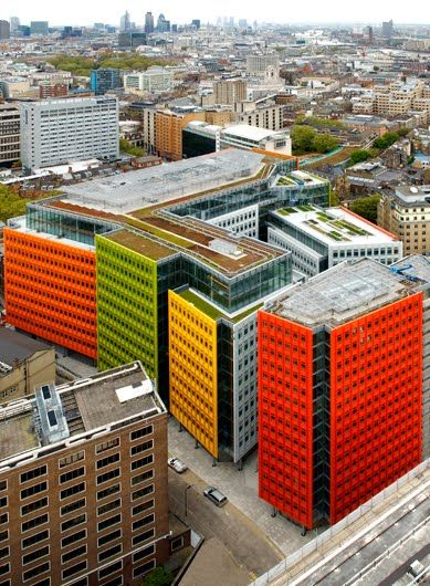 One of the most colourful buildings you will ever see! Renzo Piano's Central St Giles. #London, #UK. www.torontolakefrontcondos.ca