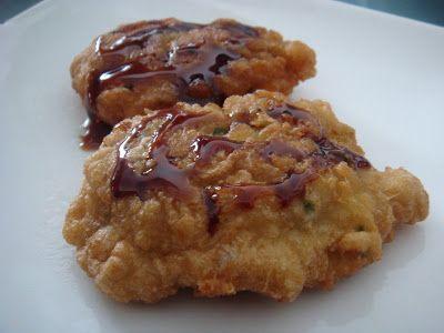 Tortitas de Bacalao con Miel de Caña