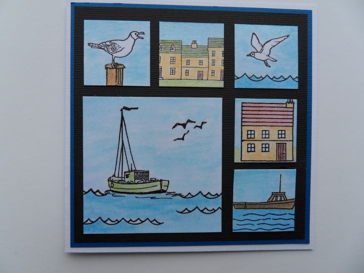 Harbour card - Design & stamps by Hobby Art Stamps