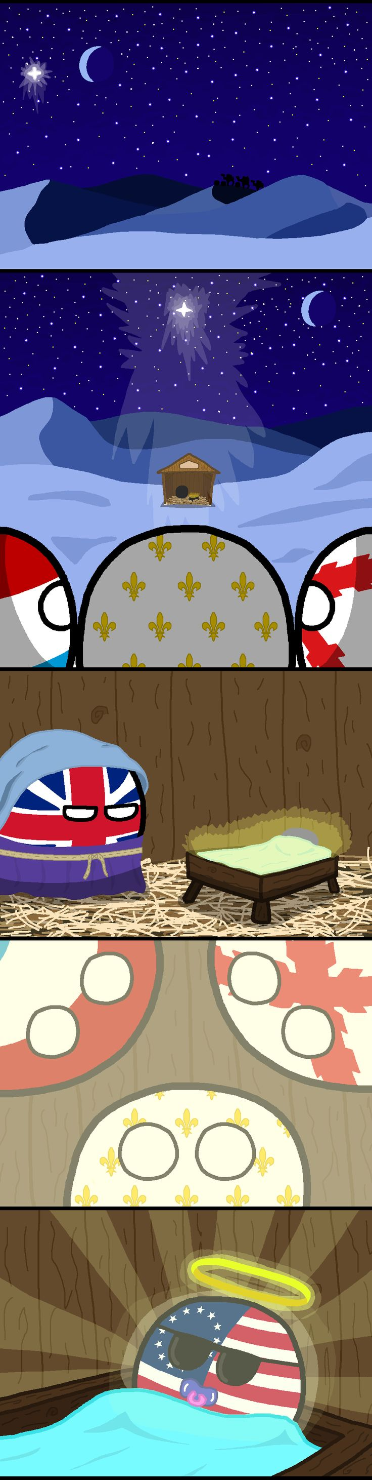 The Birth of a Nation ( USA, UK, Netherlands, Spain, France ) by Baron koleye of kolaje #polandball #countryball