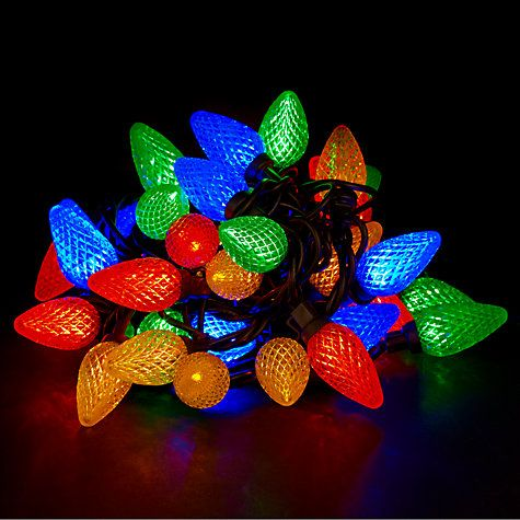 Buy John Lewis Outdoor LED Retro Jewels Christmas Line Lights, X40, Multi  Online At