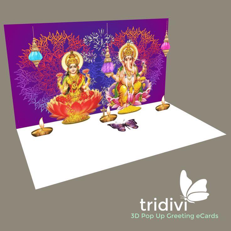 Free 3D Diwali eCards. Free Diwali cards.  http://tridivi.com/cards/diwali.html