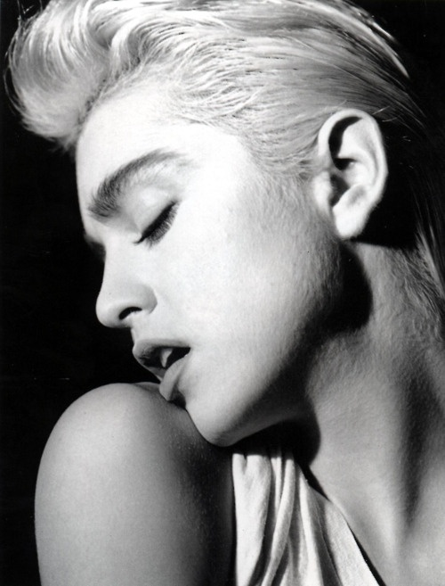 Madonna photographed by Bruce Weber, 1986
