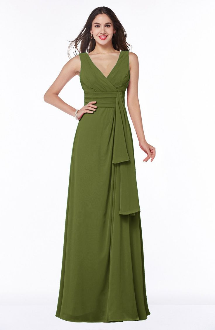 Olive Green Bridesmaid Dress