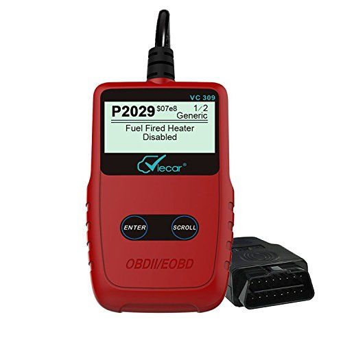 OBD2 Scanner,Oakletrea Upgraded Universal OBD II EOBD Car Engine Fault Code Reader CAN Diagnostic Scan Tool for 1996 or Newer OBD 2 Protocol Vehicle (Red). For product info go to:  https://www.caraccessoriesonlinemarket.com/obd2-scanneroakletrea-upgraded-universal-obd-ii-eobd-car-engine-fault-code-reader-can-diagnostic-scan-tool-for-1996-or-newer-obd-2-protocol-vehicle-red/