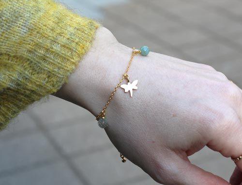 armbånd med anborede perler