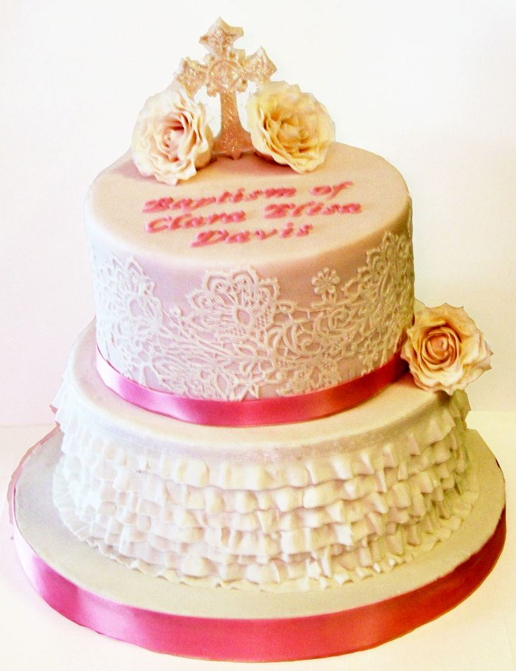 Vintage Rose,  Ruffles & Lace Cake Like us at www.facebook.com/melianndesigns