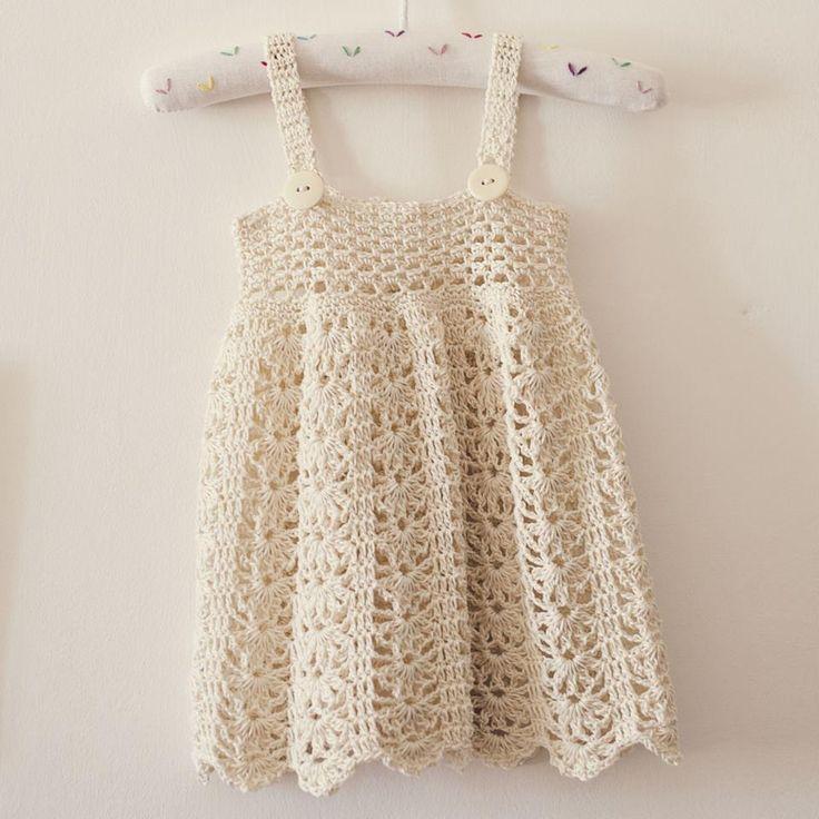 Mejores 7 imágenes de crochet bebes y niñas en Pinterest | Punto de ...