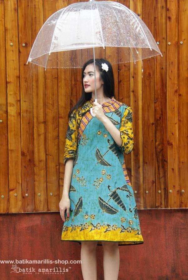 batik amarillis's joyluck dress 2014 made with batik wonogiren,Indonesia www.batikamarillis-shop.com : beautiful ethnic inspired dress to bring you joy  luck... it's beautiful modern reinvention of the classic Qipao, it provides the ideal combination of comfort  style