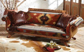 Gold Rush Kilim Sofa / crows nest trading co