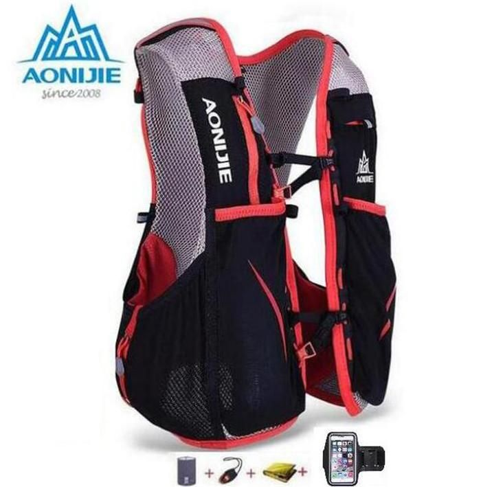 Men Women Outdoor Running 5L Hydration Vest Pack For 1.5L Water Bag Cycling Hiking Bag