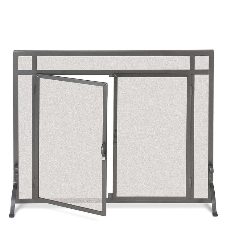 Custom Straight Flat Guard with Doors | Fireplace Screens